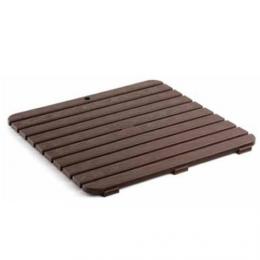 Tarima de baño 55x55 cm plastico marron