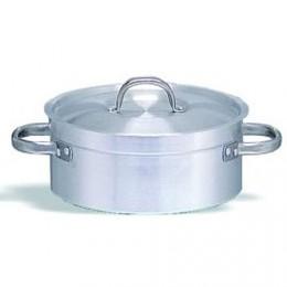 Cacerola aluminio baja con tapa diam. 30cm x alto 12cm 8.5lt
