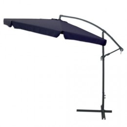 Parasol azul - brazo 3 mts. aluminio - con manivela