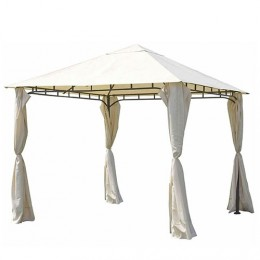 Cenador 3x3 metros con cortinas