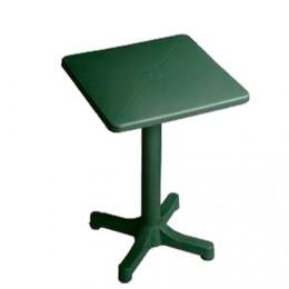 Mesa de jardín verde 60x60 cm.