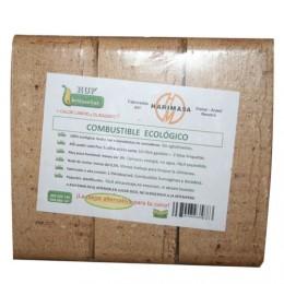 Briqueta ecologica. Pack 6 briquetas. 11.5 kg aprox.