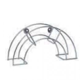 Enrollador de manguera 36x12cm de acero zincado para colgar