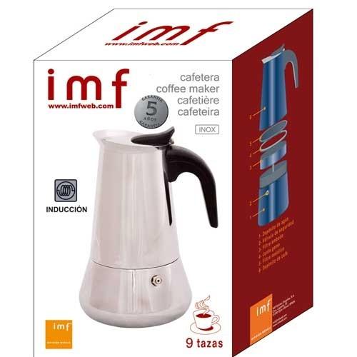 Cafetera italiana inox 9 tazas