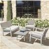 Set mesa + sofá + sillones Salotto kurtis