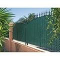 Celosía PVC fija verde 1x2mt cuadro de 18mm