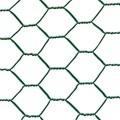 Malla metálica hexagonal plastificada 0.5x10mt cuadro 13mm/1mm