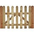 Puerta de valla clásica de madera 100cm x 100cm - lámina 20mm x 90mm