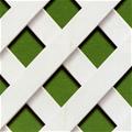 Celosía PVC fija blanca 1x2mt cuadro de 18mm