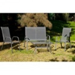 Set mesa 90x55x45 + 2 sillas + sofá SULAN 7