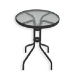 Mesa 60 cm hierro/cristal