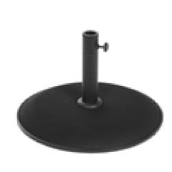 Pie parasol 25kg. 50cm. diametro. Negro
