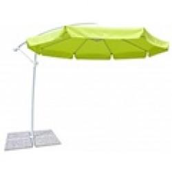Parasol brazo lateral 3 metros color verde