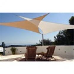 Vela parasol triangular 3.6 x 3.6 mts. Turquesa